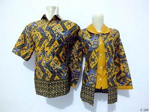 sarimbit blouse batik argreen C124