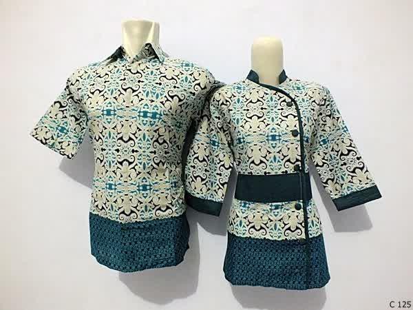 sarimbit blouse batik argreen C125