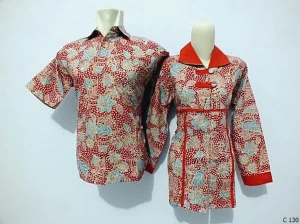 sarimbit blouse batik argreen C130