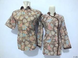 sarimbit blouse batik argreen C131