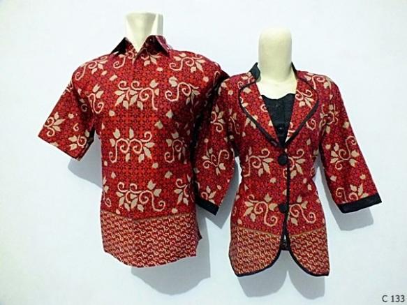 sarimbit blouse batik argreen C133
