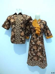 Sarimbit dress batik argreen A41
