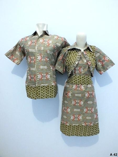Sarimbit dress batik argreen A42