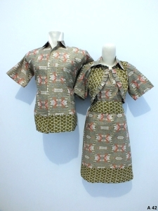 Sarimbit dress batik argreen A42