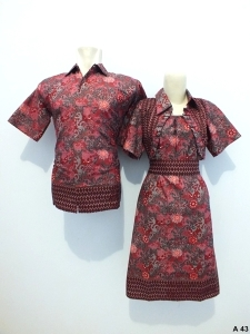 Sarimbit dress batik argreen A43