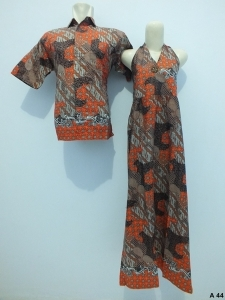 Sarimbit dress batik argreen A44