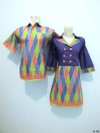 Sarimbit dress batik argreen A46