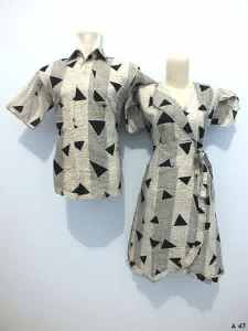 Sarimbit dress batik argreen A47