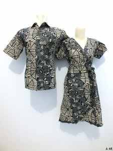 Sarimbit dress batik argreen A48