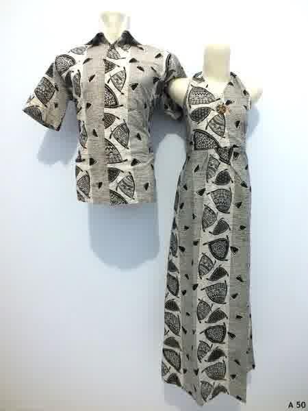 Sarimbit dress batik argreen A50