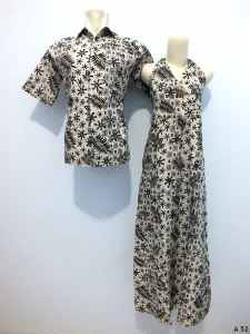 Sarimbit dress batik argreen A52