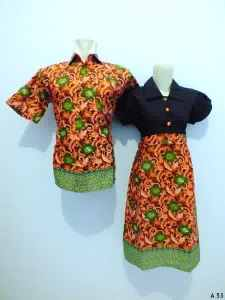 Sarimbit dress batik argreen A53
