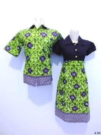 Sarimbit dress batik argreen A54