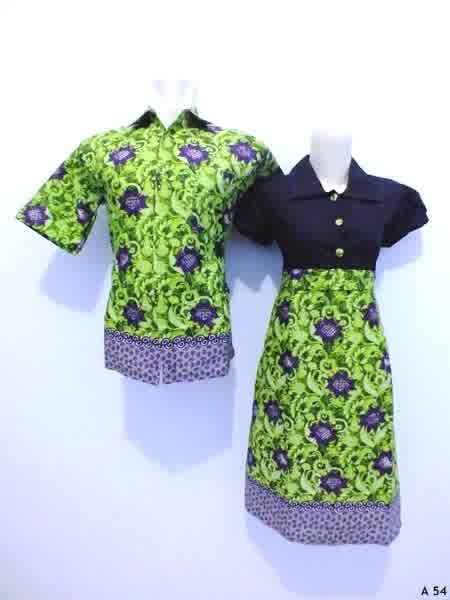 Sarimbit dress batik argreen A54