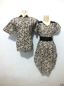 Sarimbit dress batik argreen A56