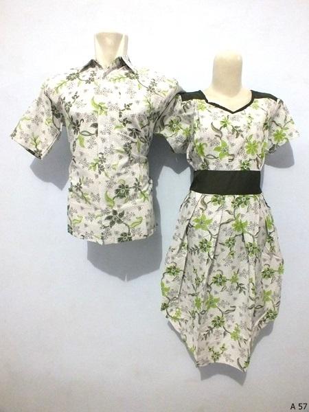 Sarimbit dress batik argreen A57