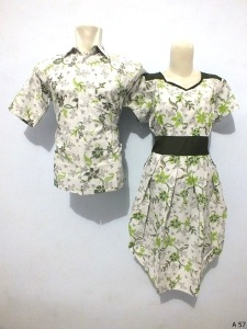 Sarimbit dress batik argreen A57