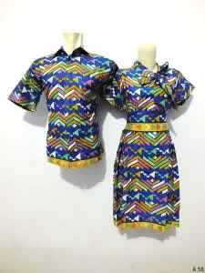 Sarimbit dress batik argreen A58
