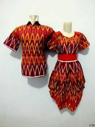 Sarimbit dress batik argreen A59