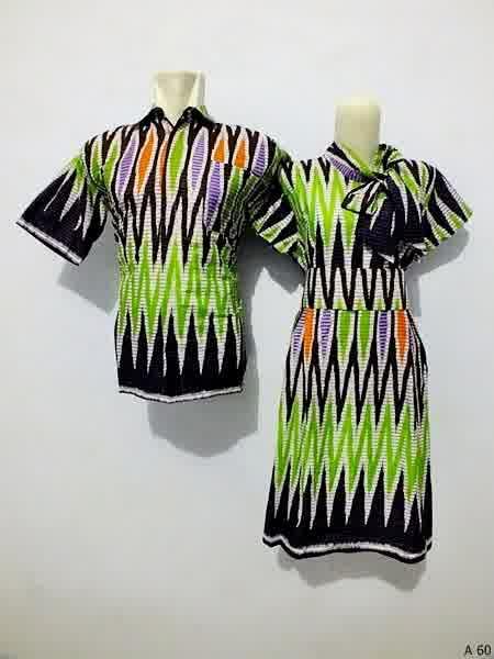 Sarimbit dress batik argreen A60