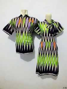 Sarimbit dress batik argreen A60
