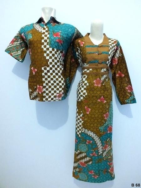 Sarimbit gamis batik argreen B68