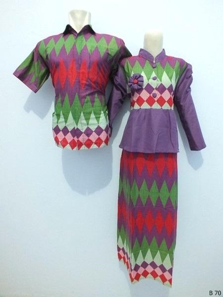 Sarimbit gamis batik argreen B70