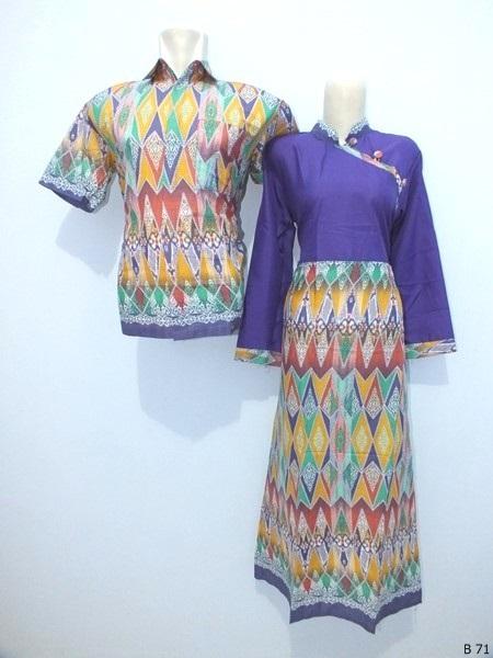 Sarimbit gamis batik argreen B71