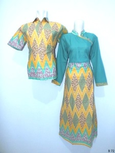 Sarimbit gamis batik argreen B72