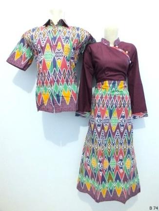 Sarimbit gamis batik argreen B74
