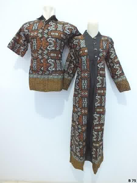 Sarimbit gamis batik argreen B75