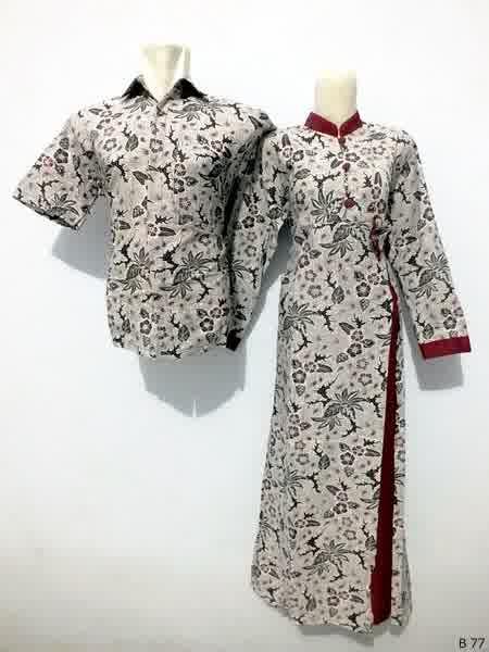 Sarimbit gamis batik argreen B77
