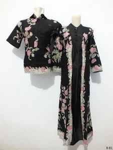 Sarimbit gamis batik argreen  B81