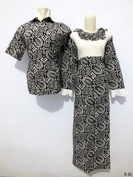 Sarimbit gamis batik argreen B82