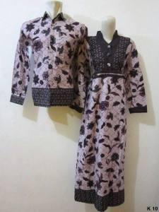 Sarimbit gamis lengan panjang batik argreen K10