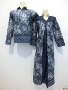 Sarimbit gamis lengan panjang batik argreen K18