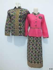 Sarimbit gamis lengan panjang batik argreen K21