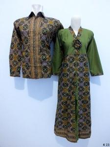 Sarimbit gamis lengan panjang batik argreen K23