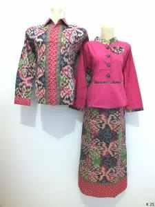 Sarimbit gamis lengan panjang batik argreen K25