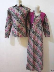 Sarimbit gamis lengan panjang batik argreen K7