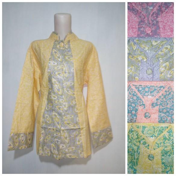 baju kantor batik argreen 102