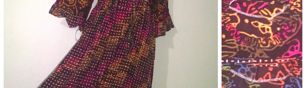 Batik Pekalongan  Daster Payung Renda Motif Abstrak  Pusat