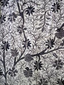 Kain Batik Hitam Putih Argreen 01