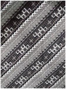 Kain Batik Hitam Putih Argreen 37