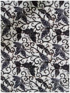 Kain Batik Hitam Putih Argreen 38