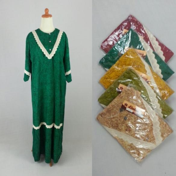gamis batik renda